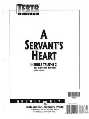 Bible Truths 2: A Servant's Heart, Tests Answer Key   -