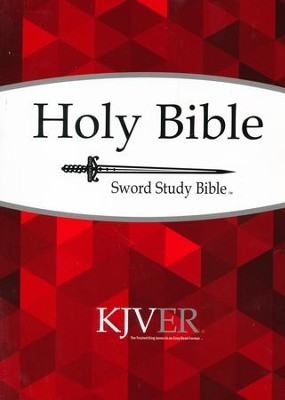 KJVer (Easy Reader) Large Print Sword Study Bible, Personal Size, Softcover  -