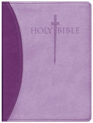 KJVer (Easy Reader) Large Print Sword Study Bible, Personal Size, Ultrasoft Dark Purple/Light Purple, Thumb Indexed  -