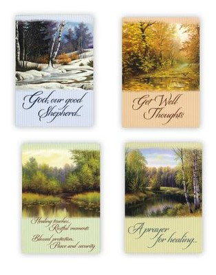 Peace in the Valley, Box of 12 Assorted Get Well Cards  -