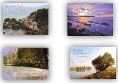 Peaceful Reflections, Box of 12 Assorted Sympathy Cards  -
