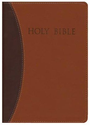 KJVer (Easy Reader) Large Print Thinline Bible, Ultrasoft Dark Brown/Light Brown  -
