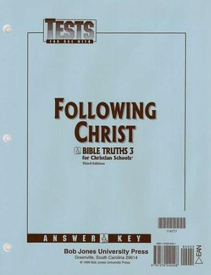 BJU Bible Truths 3: Following Christ, Tests Answer Key   -