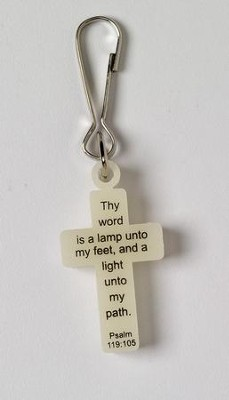 God Lights Our Way, Glow-in-the-Dark Zipper Pull   -