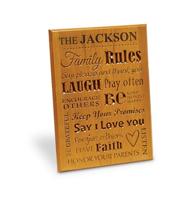 Personalized, Family Rules Plaque   -