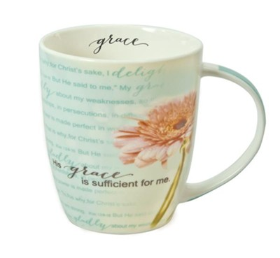 Grace is Sufficient, Flower Mug  -