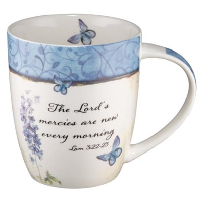 The Lord's Mercies Are New Every Morning, Butterflies Mug  -
