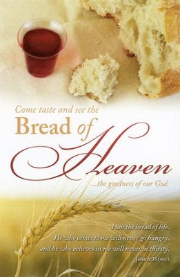 Bread of Heaven (John 6:35, NIV) Bulletins, 100  -