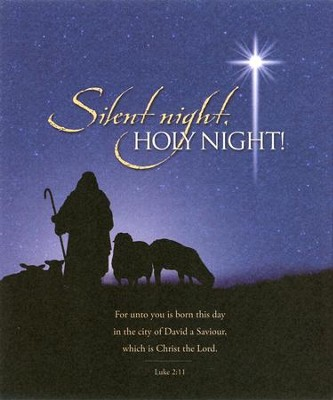 Silent Night, Holy Night (Luke 2:11) Large Bulletins, 100  -