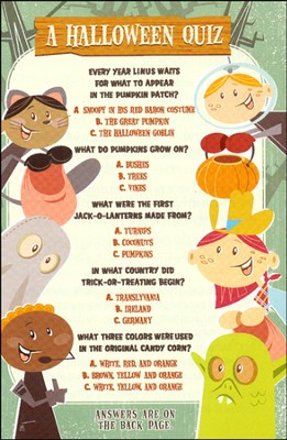A Halloween Quiz (ESV), Pack of 25 Tracts   -