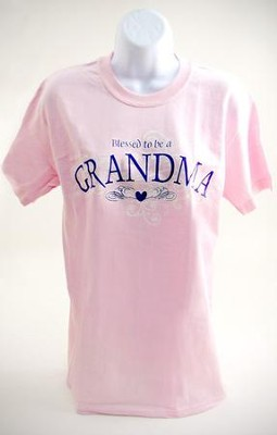 Blessed To Be A Grandma, Adult T-shirt, Medium (38-40)  -
