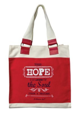Hope, Retro Canvas Tote Bag  -