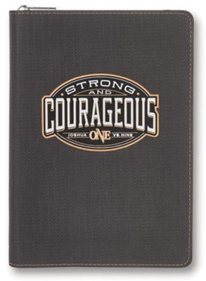 Be Strong & Courageous, Journal with Zipper  -