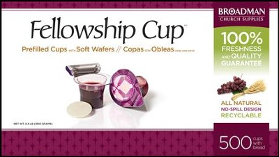 Fellowship Cup Prefilled Communion Cups, Box of 500  -