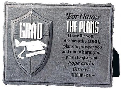For I Know the Plans, He is Your Shield, Grad Plaque  -
