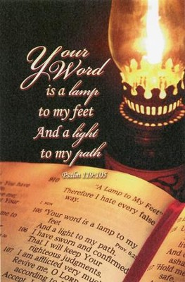Your Word is a Lamp to my Feet (Psalm 119:105, NASB) Bulletins, 100  -