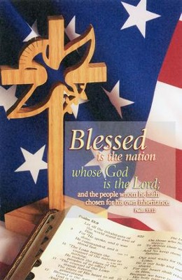 Blessed Is the Nation (Psalm 33:12, KJV)/Bulletins, 100  -