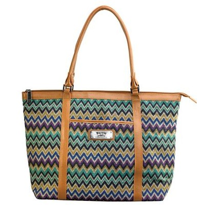 Faith, Chevron Tote Bag  -