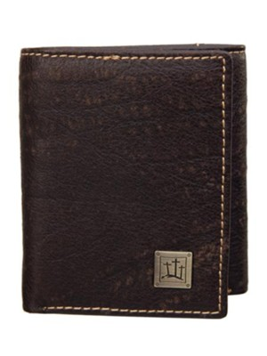 Three Crosses, Leather Wallet, Brown  -