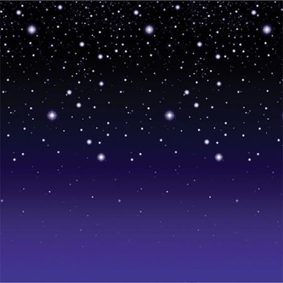 Starry Night Plastic Backdrop (4' x 30')   -