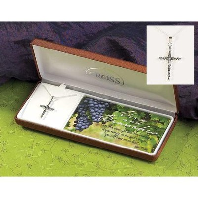 Vine and Branches Cross Necklace  -