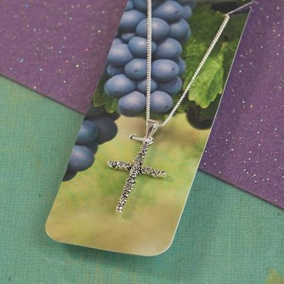 Vine and Branches, Sideways Cross Necklace  -