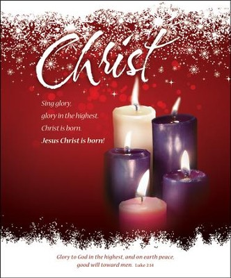Christ (Luke 2:14) Large Advent/Christmas Bulletins, 100  -