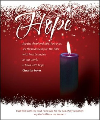 Hope (Micah 7:7) Large Advent Bulletins, 100  -