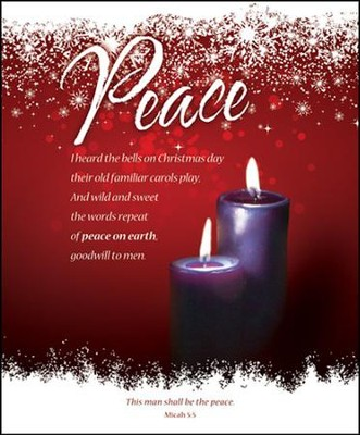 Peace (Micah 5:5) Large Advent Bulletins, 100  -