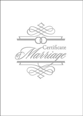 Embossed Marriage Certificate & Booklet   -