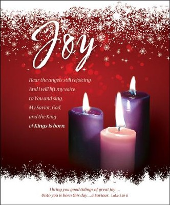 Joy (Luke 2:10-11) Large Advent Bulletins, 100  -