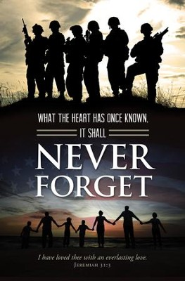 Never Forget (Jeremiah 31:3) Bulletins, 100  -