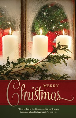 Merry Christmas (Luke 2:14) Bulletins, 100  -