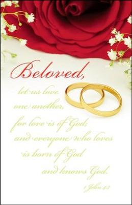 Love Is Of God (1 John 4:7, NKJV) Wedding Bulletins ...
