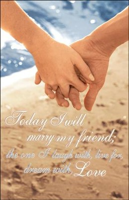 Today I Will Marry My Friend, Wedding Bulletins, 100  -