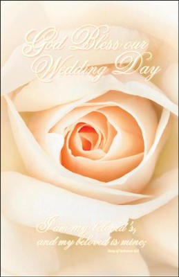 God Bless Our Wedding Day (Song Of Solomon 6:3) Wedding Bulletins, 100  -
