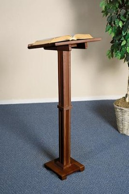 Standing Lectern, Hardwood Maple with Walnut Finish  -