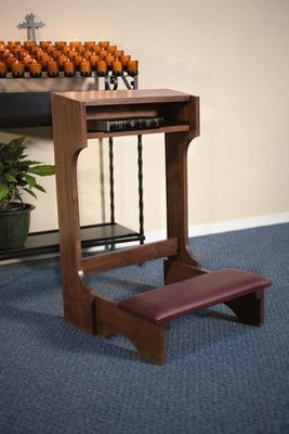 Padded Kneeler, Hardwood Maple with Walnut Finish  -