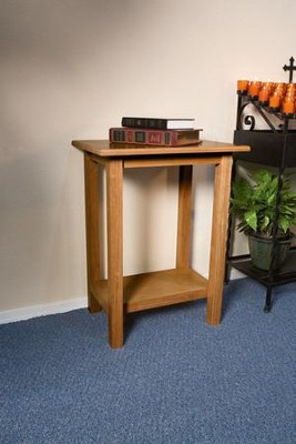 Credence Table, Hardwood Maple with Pecan Finish  -