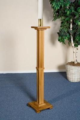 Paschal Candle Holder, Hardwood Maple with Pecan Finish  -