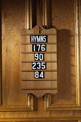 Hymn Board, Hardwood Maple with Pecan Finish   -