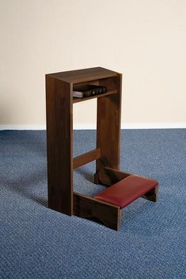 Folding Kneeler, Hardwood Maple with Walnut Finish  -
