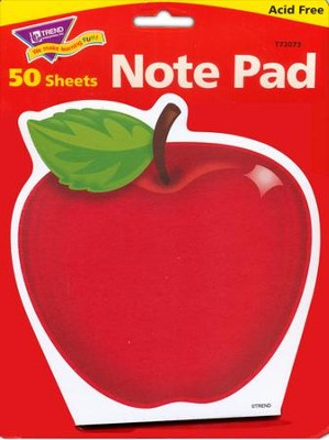 Shiny Red Apple Note Pad Shaped  -