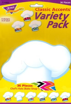 Chef's Hat Bake Shop Variety Pack Classic Accent  -