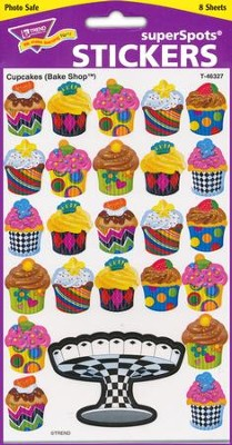 Cupcakes Bake Shop Super Shape Stickers  -