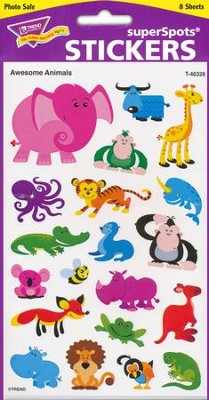 Awesome Animals Super Shape Stickers  -