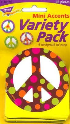 Peace Signs Patterned Mini Variety Pack Classic Accent  -