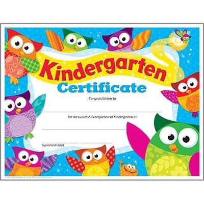 kindergarten certificates