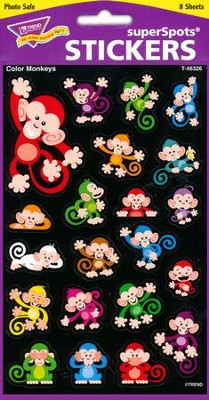 Color Monkeys Super Shape Stickers  -