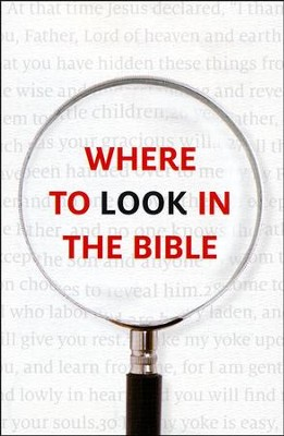 Where to Look in the Bible (KJV), Pack of 25 Tracts   -